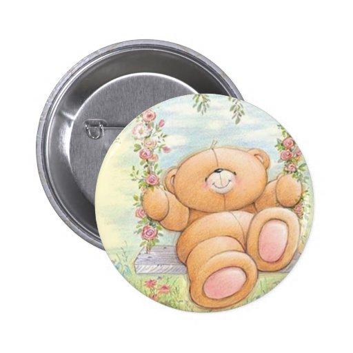 Botón del oso de peluche pin