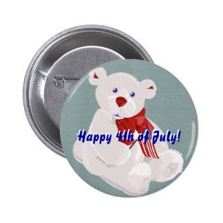 Botón del oso del Día de la Independencia Pins