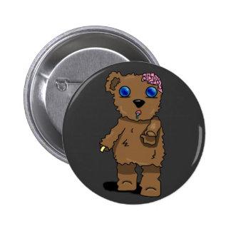 ¡Botón del oso del zombi! Pin Redondo 5 Cm