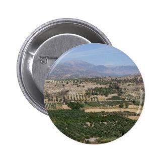 Botón del paisaje de Creta Pin Redondo De 2 Pulgadas