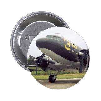 Botón del pájaro de C-47/DC-3 Gooney Pin Redondo De 2 Pulgadas