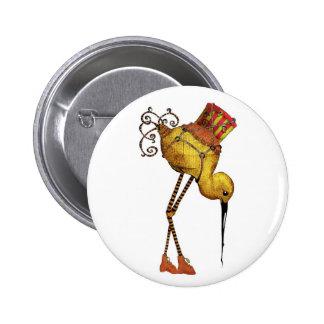 Botón del pájaro del cargo pins