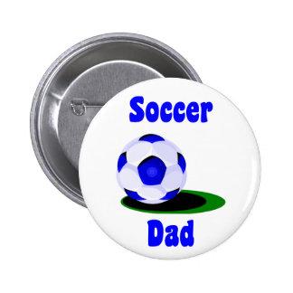 Botón del papá del fútbol pin redondo de 2 pulgadas