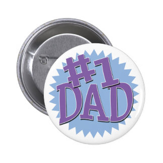 Botón del papá del número 1 pins