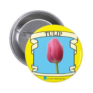 Botón del paquete de la semilla del tulipán pin redondo de 2 pulgadas