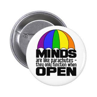 Botón del paracaídas del arco iris pin redondo de 2 pulgadas