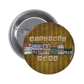 Botón del parque de las facturaciones del vintage