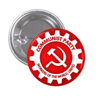 Botón del Partido Comunista Pin Redondo De 1 Pulgada
