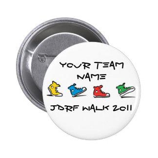 Botón del paseo 2011 de JDRF Pin Redondo De 2 Pulgadas