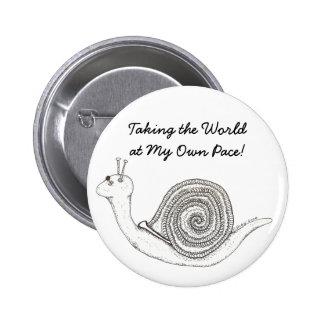 Botón del paso de tortuga pins
