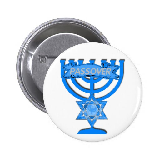 Botón del PASSOVER Pin Redondo De 2 Pulgadas