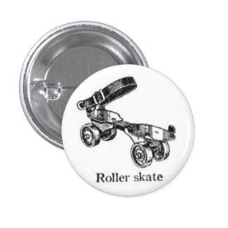 Botón del patín de ruedas del vintage