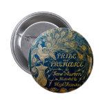 Botón del pavo real del orgullo y del perjuicio pin