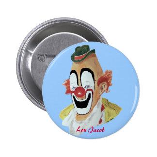 Botón del payaso de Lou Jacob Pin
