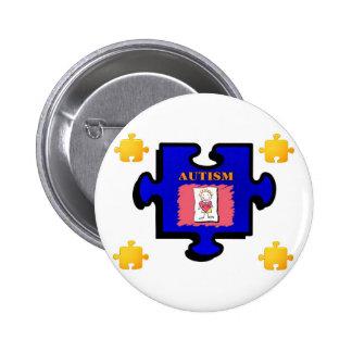 Botón del pedazo del rompecabezas del autismo