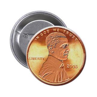 Botón del penique de Obama Pin Redondo De 2 Pulgadas