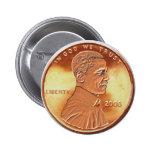 Botón del penique de Obama Pins