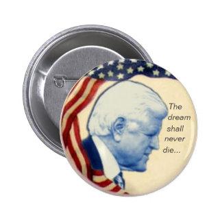 Botón del perfil de Ted Kennedy Pin Redondo De 2 Pulgadas