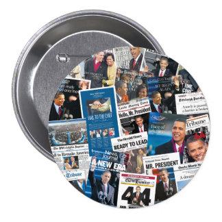 Botón del periódico de la inauguración de Obama