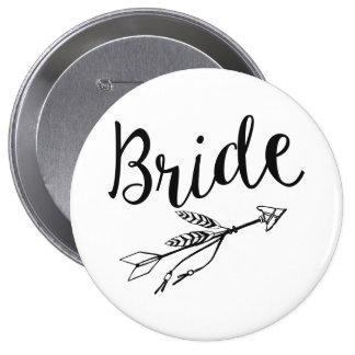 Botón del perno de la novia pin redondo de 4 pulgadas