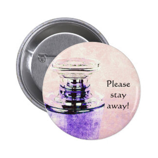 botón del perno de la precaución de la botella de  pin redondo de 2 pulgadas