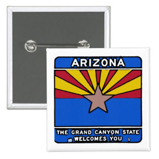 Botón del perno del signo positivo de Arizona Pin Cuadrado