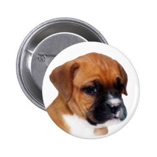 Botón del perrito del boxeador pin