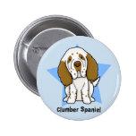 Botón del perro de aguas de Clumber de la estrella Pin