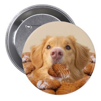 Botón del perro de la galleta pin