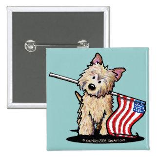 Botón del perro de Terrier de mojón de los E E U U Pins