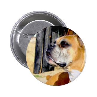 Botón del perro del boxeador del cervatillo pin