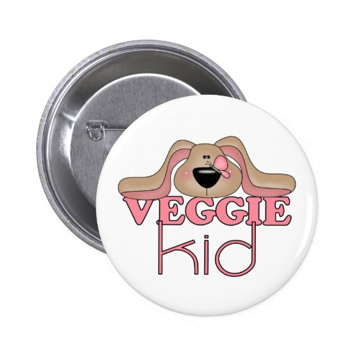 Botón del perro del niño del Veggie