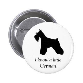 Botón del perro del Schnauzer miniatura Pin Redondo De 2 Pulgadas