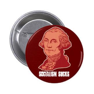 Botón del personalizable de George Washinton Pin Redondo De 2 Pulgadas