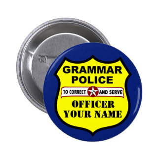 Botón del personalizable de la policía de la gramá