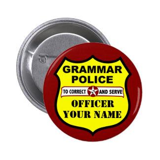 Botón del personalizable de la policía de la gramá pin redondo de 2 pulgadas