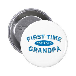 Botón del personalizable del abuelo de la primera  pin redondo de 2 pulgadas