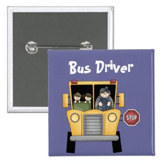 Botón del personalizable del conductor del autobús