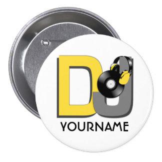 Botón del personalizado de DJ