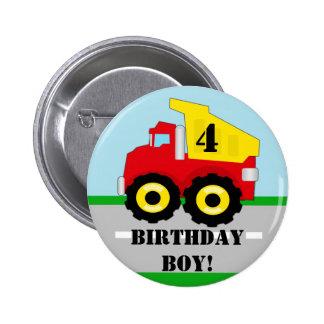 Botón del personalizado de Dumpruck de la Pin Redondo De 2 Pulgadas