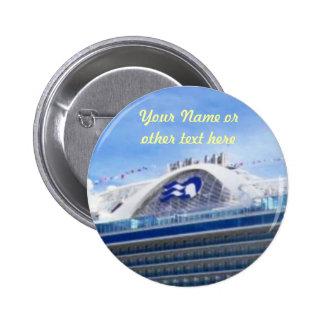 Botón del personalizado de la bruja del mar pin redondo de 2 pulgadas