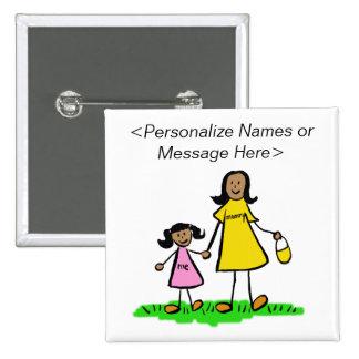 Botón del personalizado de los caracteres de la pins