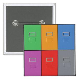 Botón del personalizado de los gabinetes de ficher pin cuadrado