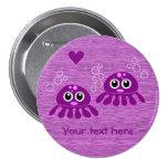 Botón del personalizado del amor del pulpo pin