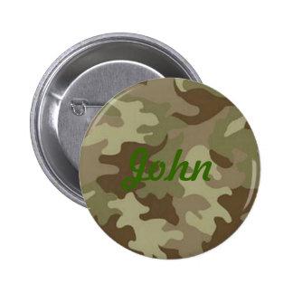 Botón del personalizado del camuflaje pin