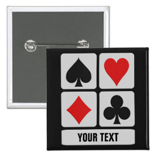 Botón del personalizado del jugador de tarjeta pin