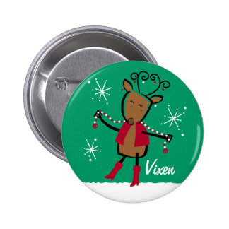 Botón del personalizado del reno del Vixen Pin