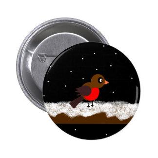 Botón del petirrojo pin redondo de 2 pulgadas