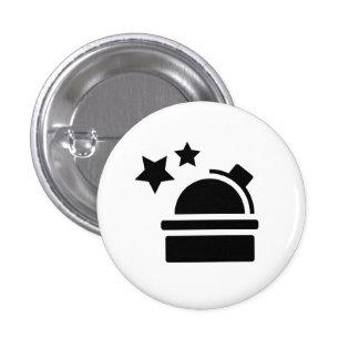 Botón del pictograma de la astronomía pin redondo de 1 pulgada