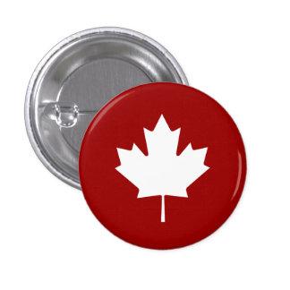 Botón del pictograma de la hoja de arce pin